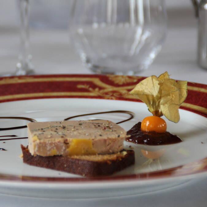 Foie gras et son pain d'épices, restaurant L'Escale de Lupin, St Nazaire sur Charente, Rochefort Océan