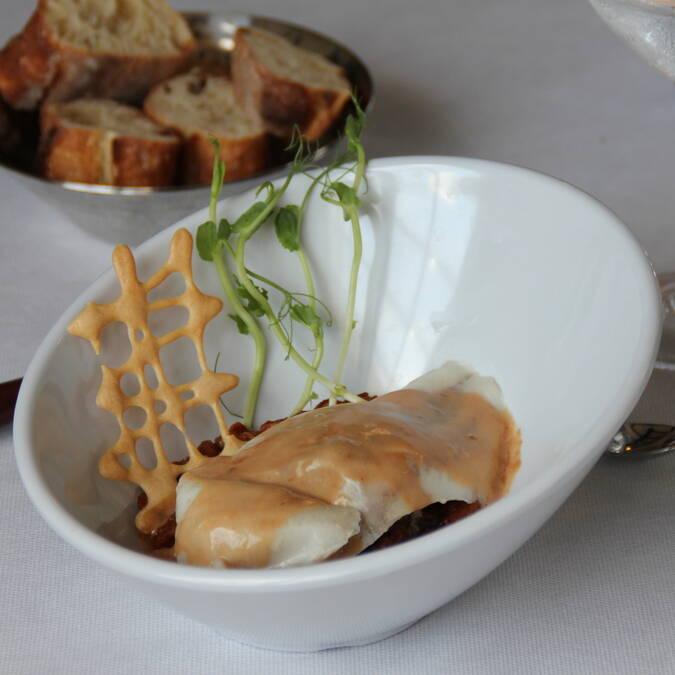 Bar et ses petits légumes confits, restaurant L'Escale de Lupin, Saint-Nazaire sur Charente, Rochefort Océan