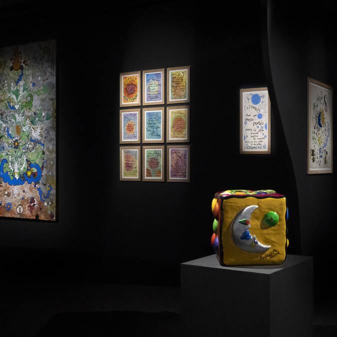 Fresques et éléments de l'exposition Federica MATTA ©FMatta