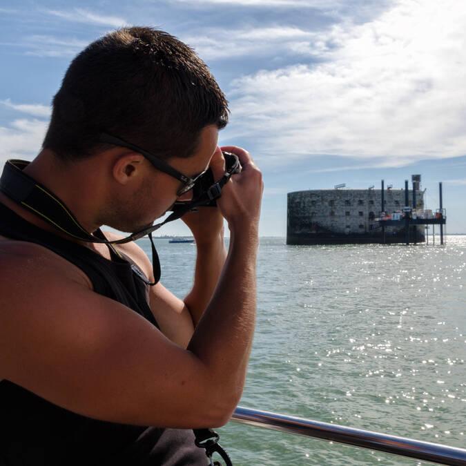 La photo souvenir de ses vacances à Rochefort océan, le pays de Fort Boyard - © Vincent Edwell