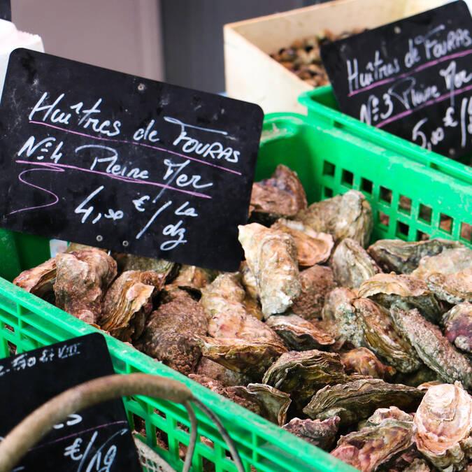 Marché aux poissons et fruits de mer, Fouras-les-Bains, Rochefort Océan