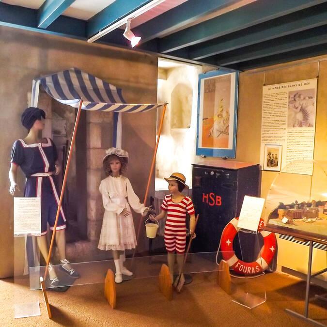 """Ambiance """"bain de mer"""" au musée régional du fort Vauban de Fouras-les-Bains - © Office de tourisme Rochefort Océan"""