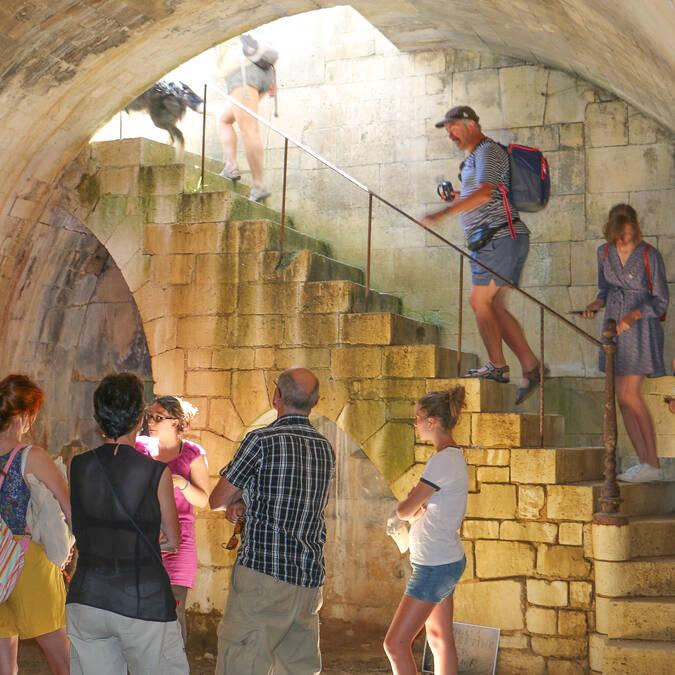 Dans les galeries du Fort Liédot