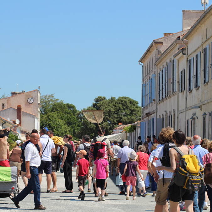 Welcome in the fortified village of Aix Island ! - © Office de tourisme Rochefort Océan