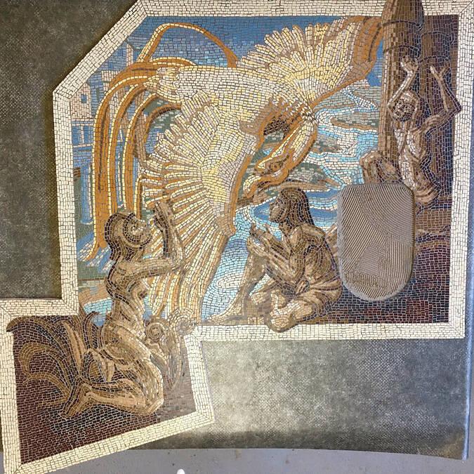 Mosaïque restaurée - Geste d'Or 2018 ©Belmond ©absolutmosaique