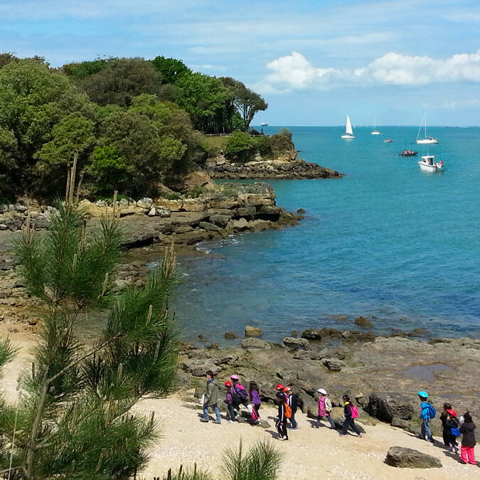 Aix Island can be visited on foot or by bike - © Office de tourisme Rochefort Océan