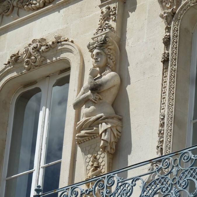 Façades des demeures aux belles architectures à Rochefort - © Office de tourisme rochefort océan