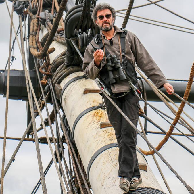 """L'équipage de l'Hermione, voyage 2018, """"Libres Ensemble"""", Rochefort Océan"""