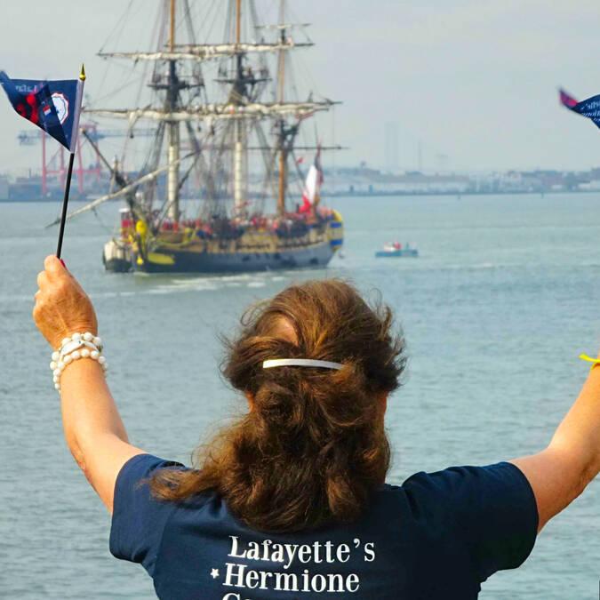 The frigate Hermione arriving New-York in 2015 - © Office de tourisme Rochefort Océan
