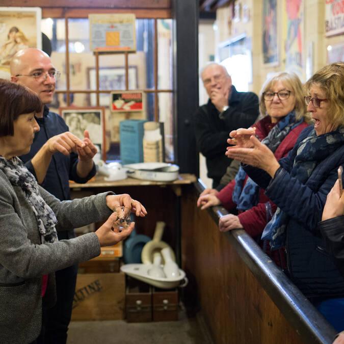 Special visit for disabled people at the Musée des Commerces d'Autrefois