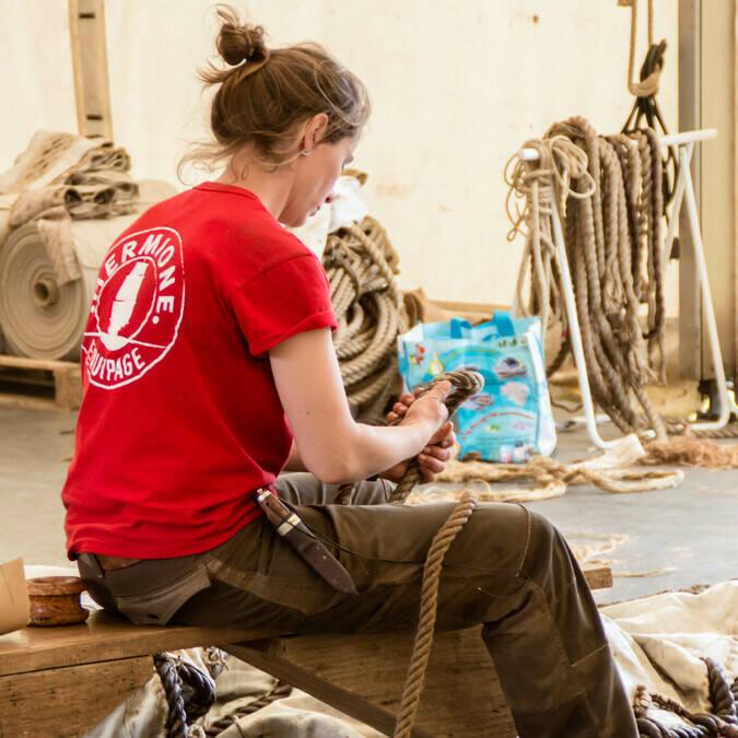 Visitez les ateliers de l'Hermione à Rochefort (costumerie, forge, voilerie, gréement,...)- © Laurent Pétillon