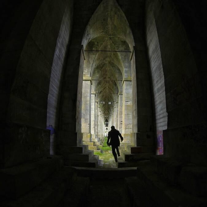 Des allures de cathédrale sous le Pont Suspendu de Tonnay-Charente - © Petibowom