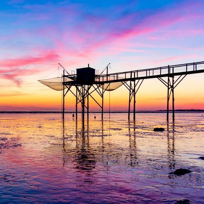 coucher-de-soleil-carrelet-rochefort-ocean © Sam Hammad