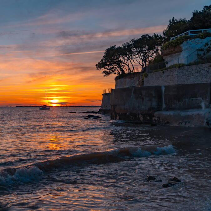 coucher-de-soleil-fouras-les-bains-rochefort-ocean © Sam Hammad