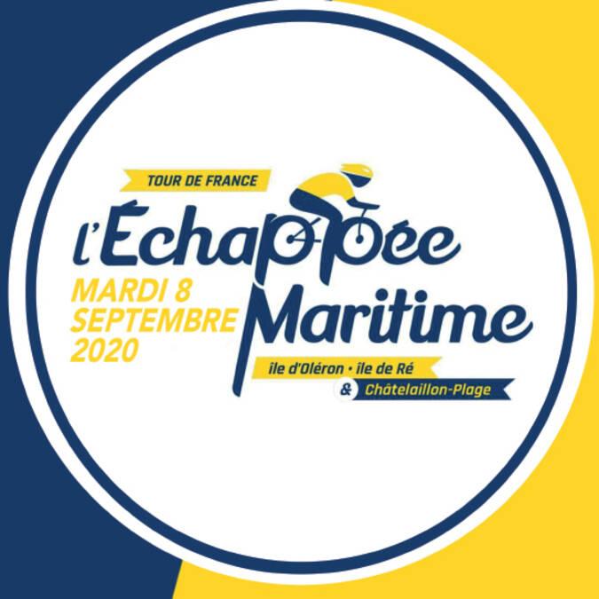 Logo l'Echappée Maritime du tour de France 2020 en Charente Maritime