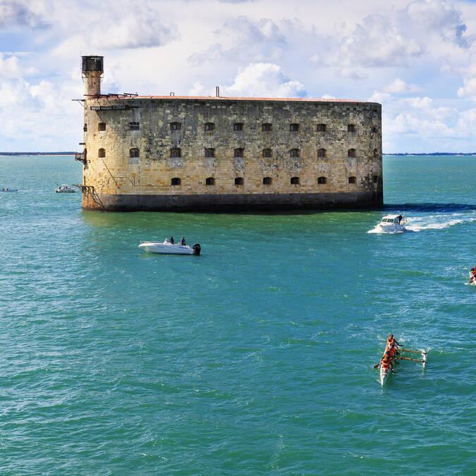 Fort Boyard,vue panoramique à Rochefort Océan